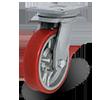 колесо промышленное из полиуретана, обод из серого чугуна, с крепежной панелью 5100, серии DOR