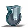 неповоротное колесо большегрузное с крепежной панелью
