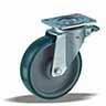 Колесо большегрузное с крепежной панелью и тормозом